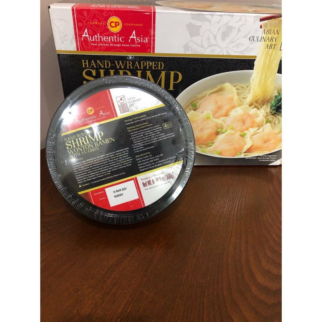 一个人的午餐——鲜虾馄炖面