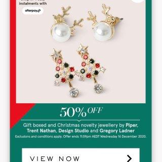 Design Studio Reindeer Pearl Stud Earrin