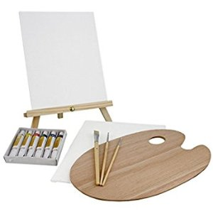 Amazon.com: US Art Supply 21-Piece Acrylic Painting Table Easel Set with, 12-Tubes Acrylic Painting Colors, 11