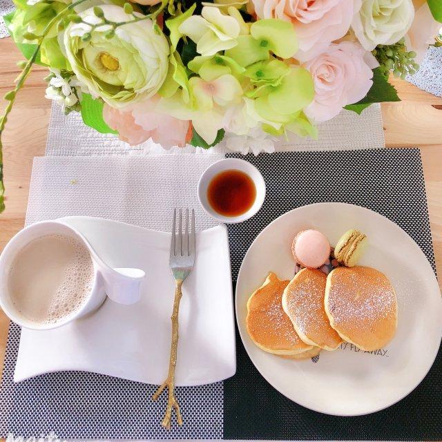 自制健康营养早餐@日式松饼➕红枣花生浆