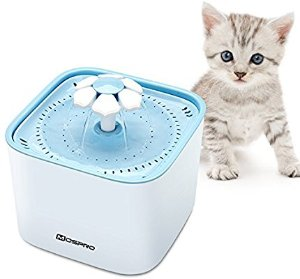 Amazon.com : Pet Fountain Cat Water Dispenser - Healthy and Hygienic Drinking Fountain 2L Super Quiet Flower Automatic Electric Water Bowl with 2 Replacement Filters for Dogs, Cats, Birds and Small Animals Blue : Pet Supplies