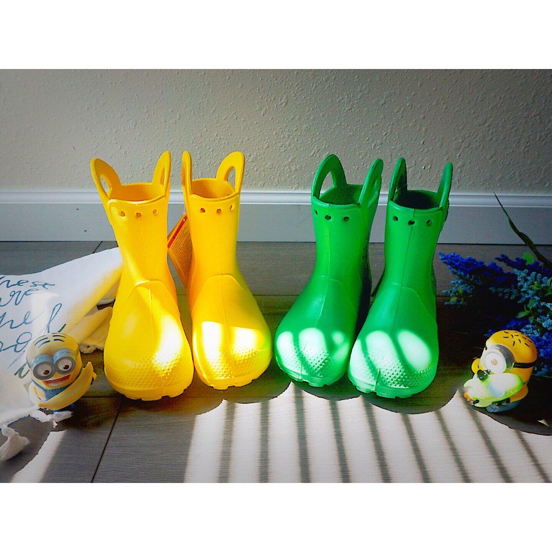 Crocs色彩缤纷的雨靴,明媚☀️