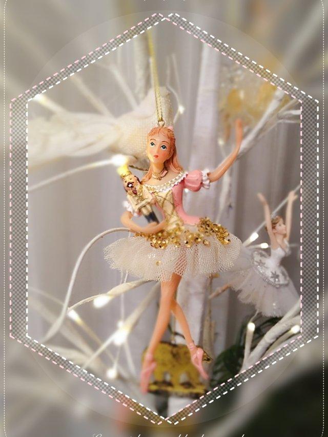圣诞装饰买起来——胡桃夹子芭蕾女孩挂件