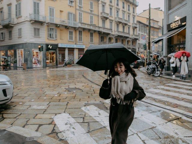 下了整天雨的米兰
