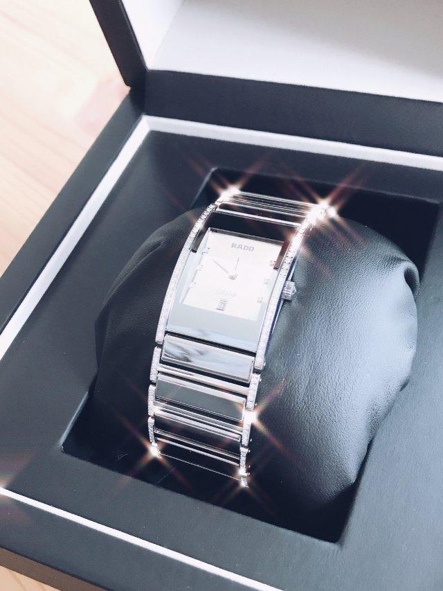Rado雷达钻石手表,212颗钻闪瞎眼