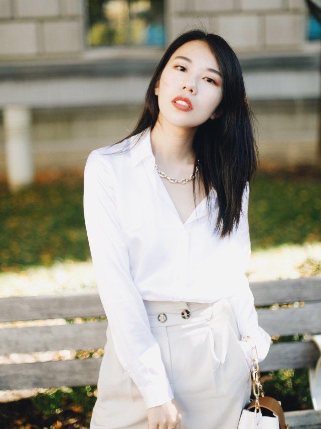 穿搭 |真丝白衬衫:永不过时的经典