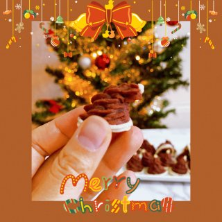 一口一个的圣诞帽手指麻薯,保你停不下来...