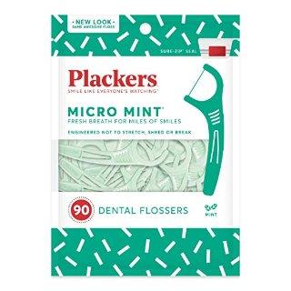 $7.1 包邮白菜价:Plackers 薄荷牙线 90支 x 3包
