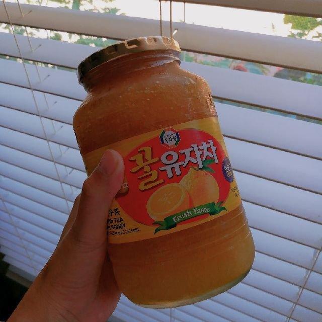 H-mart促销时候入的蜂蜜柚子茶...