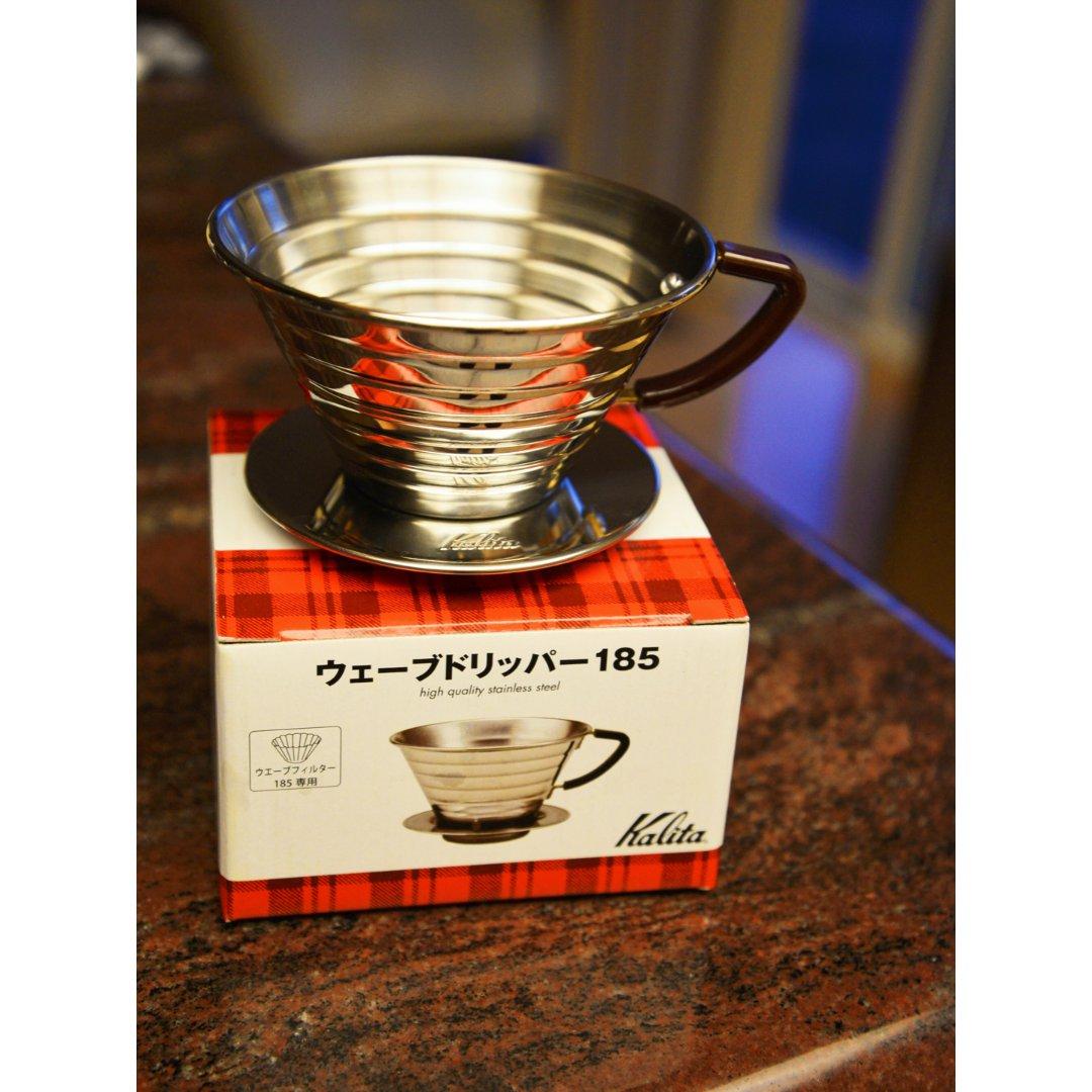 【新入手的Kalita波浪滤杯,完...