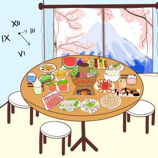 插畫|要不要一起在富士山下吃火鍋呀?|四...