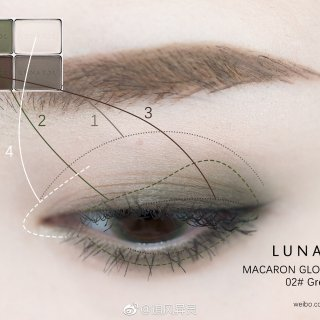 Lunasol 马卡龙眼影盘 02Gre...
