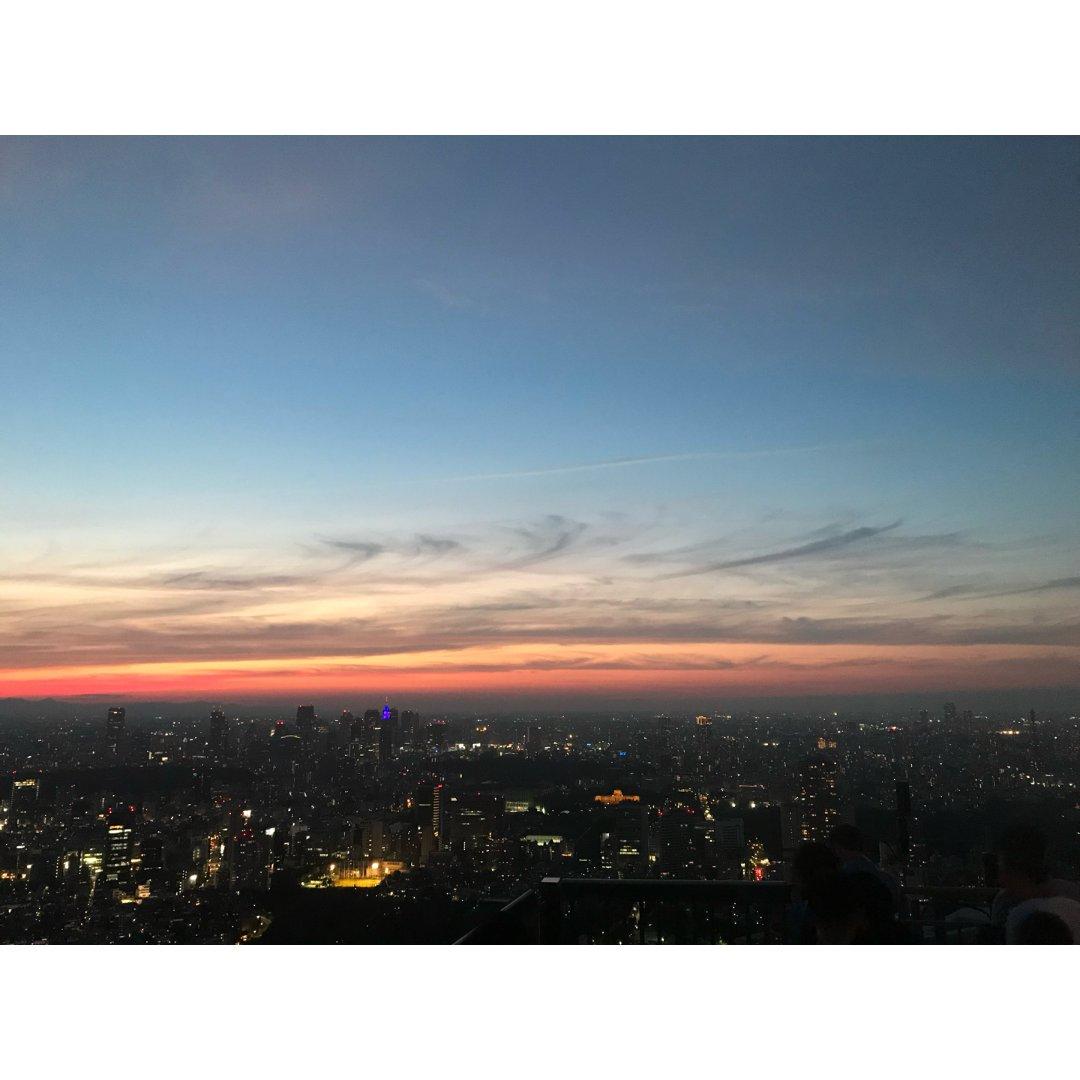 六本木之丘 日落下的东京一景