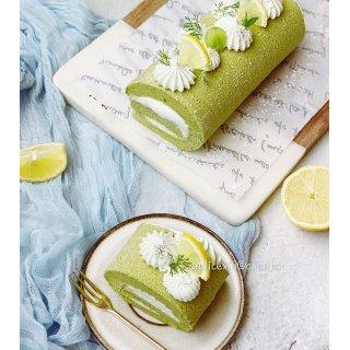 夏日里一抹绿   治愈系甜品抹茶瑞士卷...