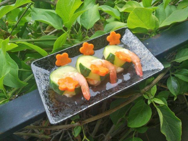 清淡又营养的虾酿黄瓜