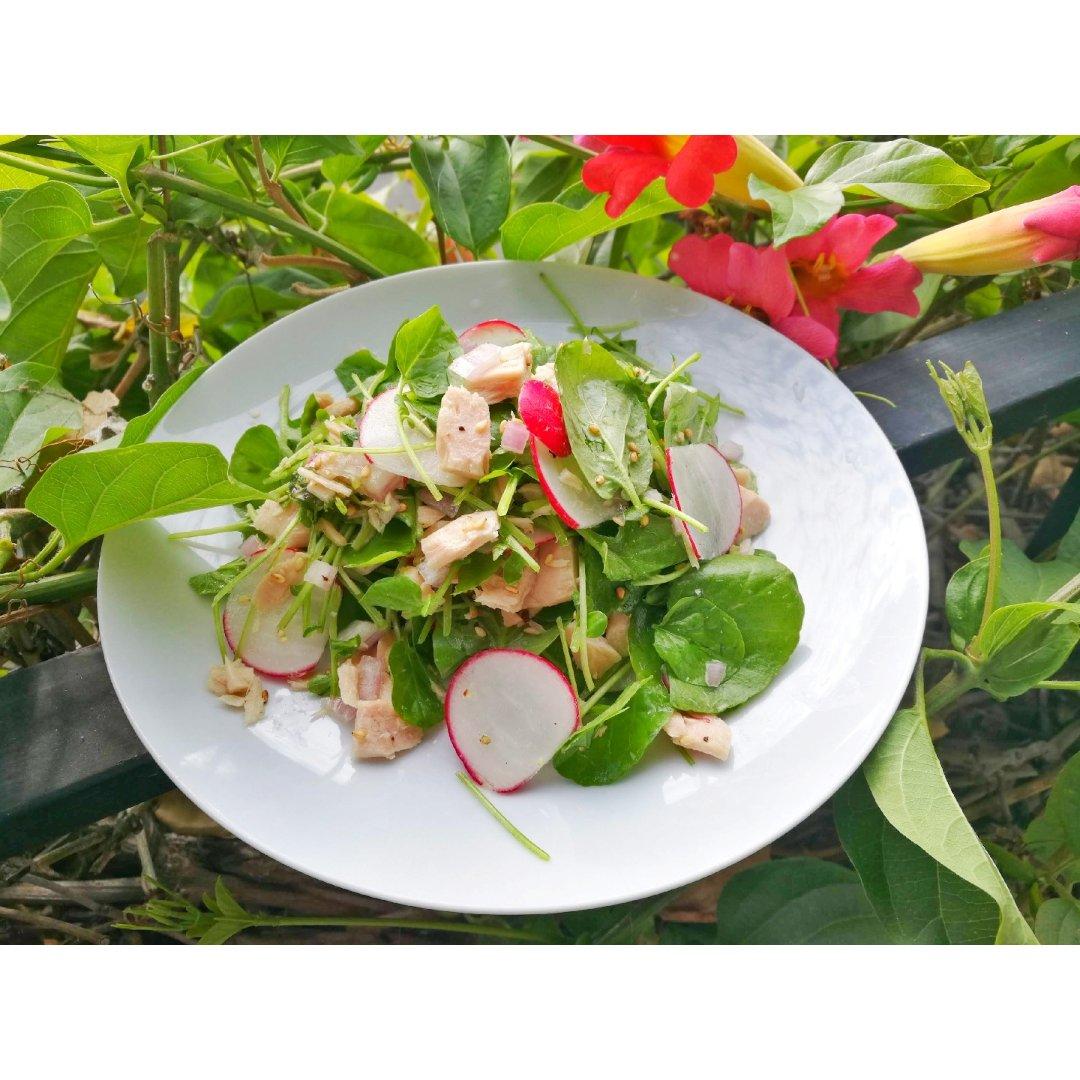 西洋菜拌金枪鱼沙拉