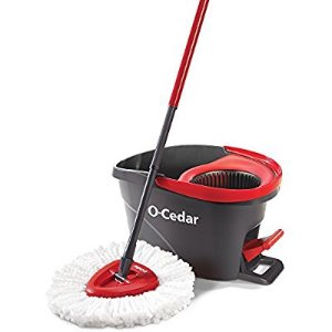 $29 O-Cedar EasyWring Microfiber Spin Mop and Bucket Floor Cleaning System