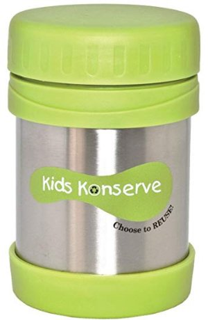 $5Kids Konserve Insulated Food Jar, Keeps Foods and Liquids Hot or Cold for Hours, Double-Walled and Vacuum Insulated, Dishwasher Safe
