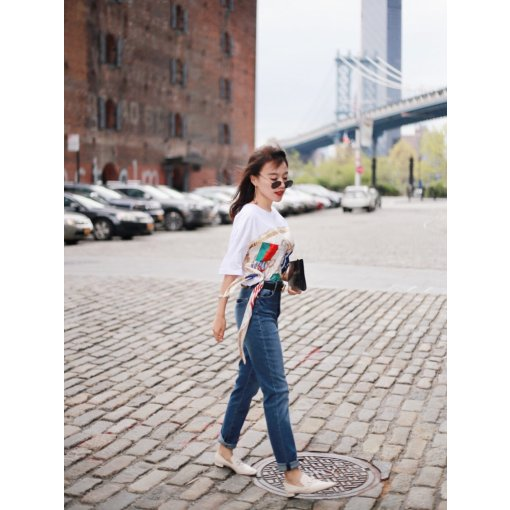 穿搭 | 印花T恤的街头随性👧
