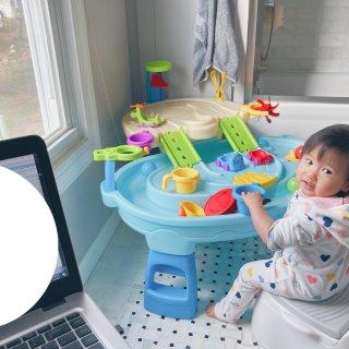 水桌的妙用💻職業媽媽的育兒好夥伴...