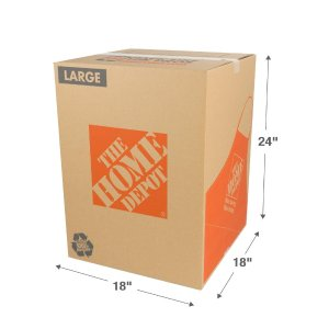 The Home Depot 18 in. L x 18 in. W x 24 in. D Large Moving Box-1001006 - The Home Depot