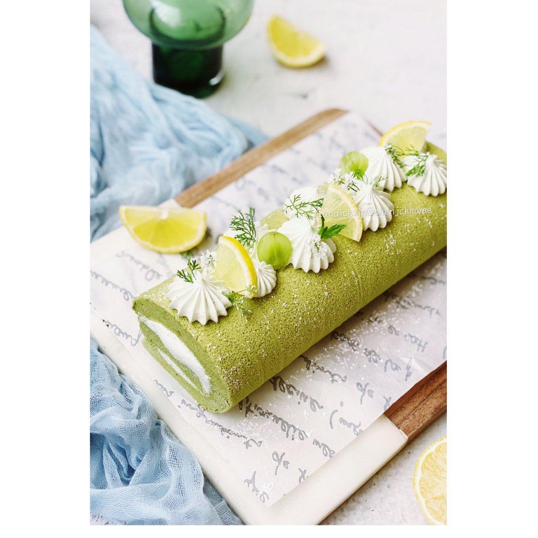 夏日里一抹绿   治愈系甜品抹茶瑞士卷