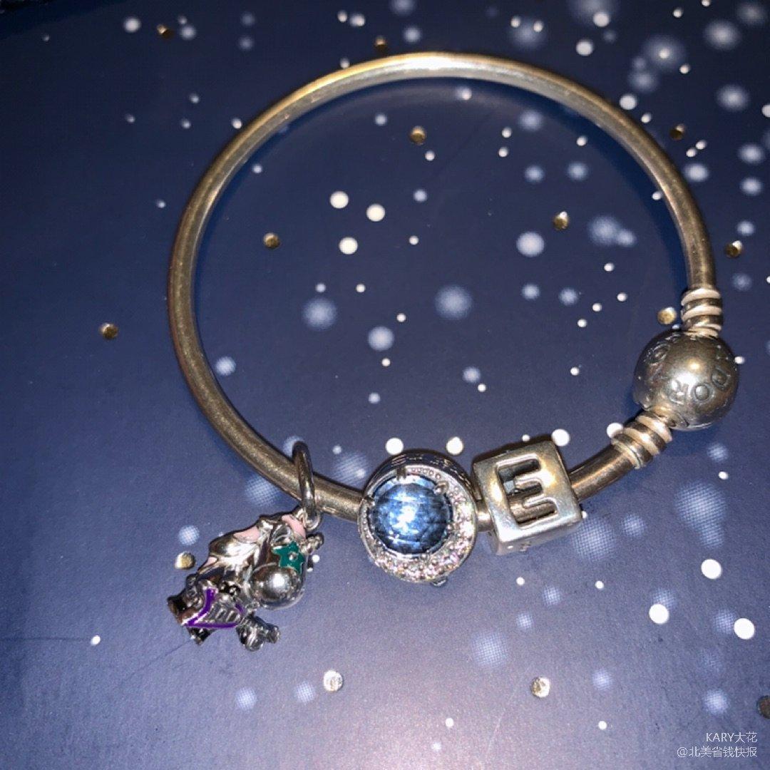 手链和正方形的小珠是直男老公在我生...