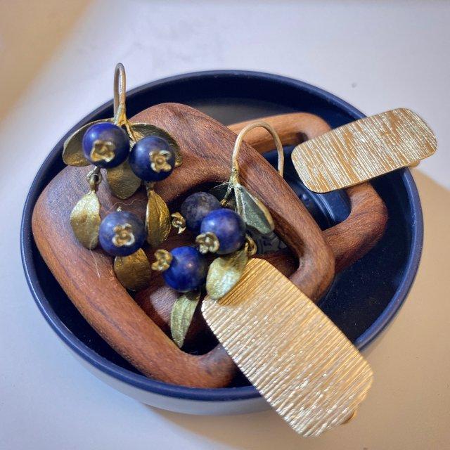 丰收的季节不来一对蓝莓耳坠吗