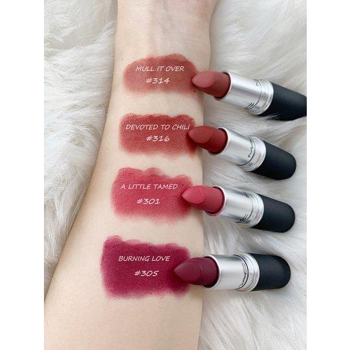 M·A·C Powder Kiss Lipstick丝缎柔雾