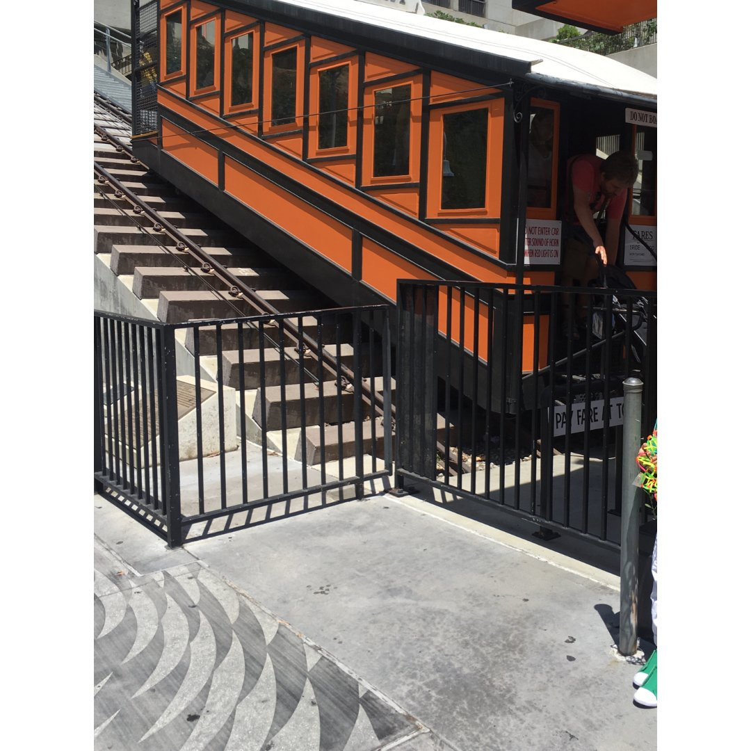 """洛杉矶打卡景点""""天使铁路""""Ange..."""