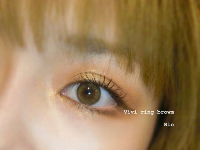 隐形眼镜 vivi ring brown