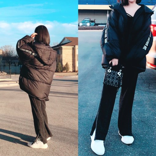 Zara超Q萌的棉衣外套+显身材的高腰长裤✨