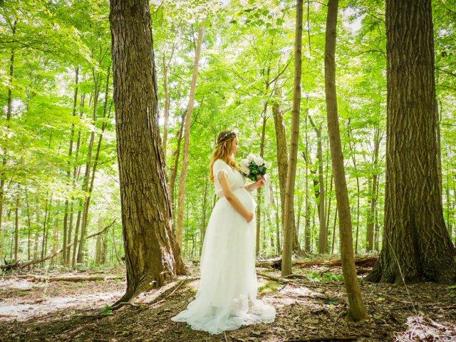 【森林里的精灵孕妈妈】微胖孕妈的孕照