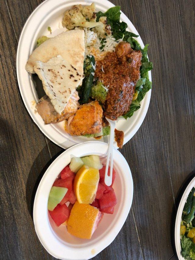 今天中午公司供应印度菜