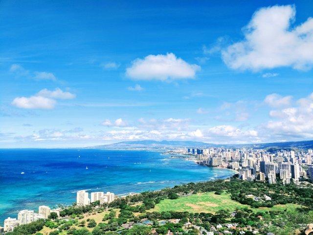 #夏威夷Oahu欧胡岛  在钻石山...