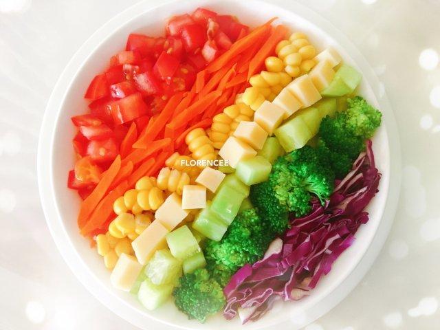 7⃣️ 今日份晚餐 — 彩虹🌈沙拉...