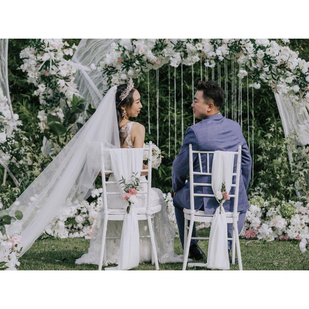 婚礼日记 | 梦中的💑+🐶草坪婚礼💕