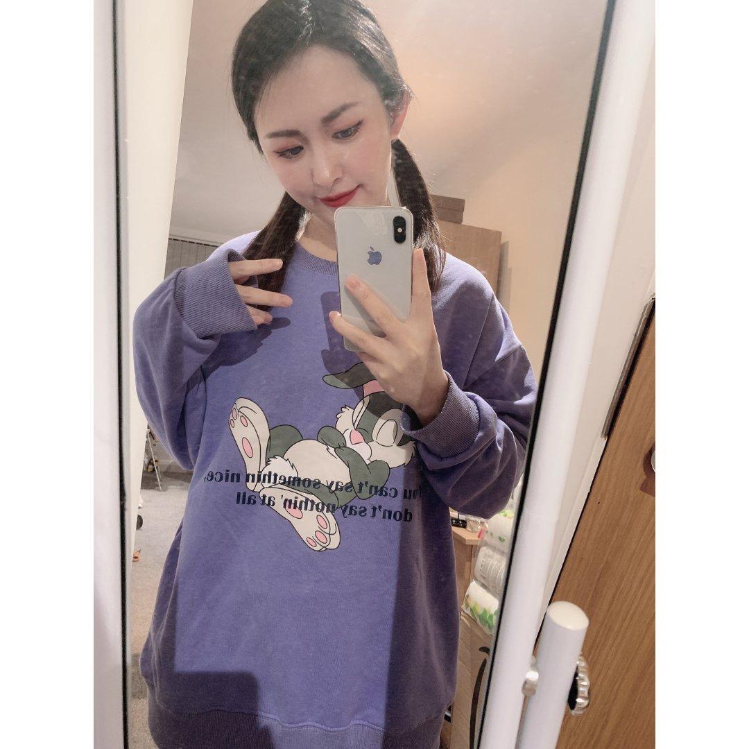 💜秀一下好朋友送我的香芋紫兔兔衣服...