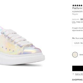 $280的麦昆小白鞋🛍️Nordstro...