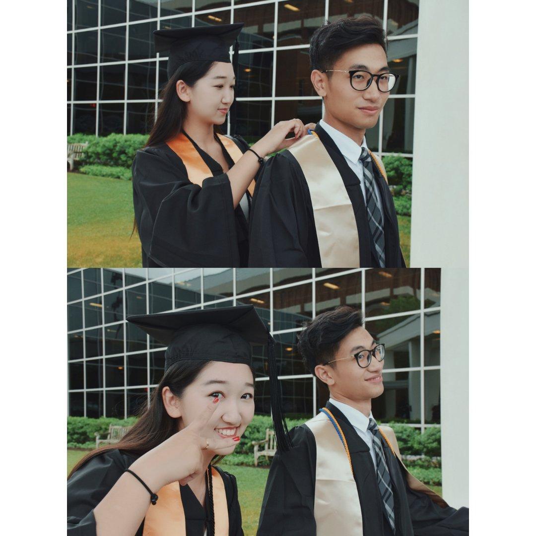 🎓毕业 我和他一起毕业啦👩❤️...