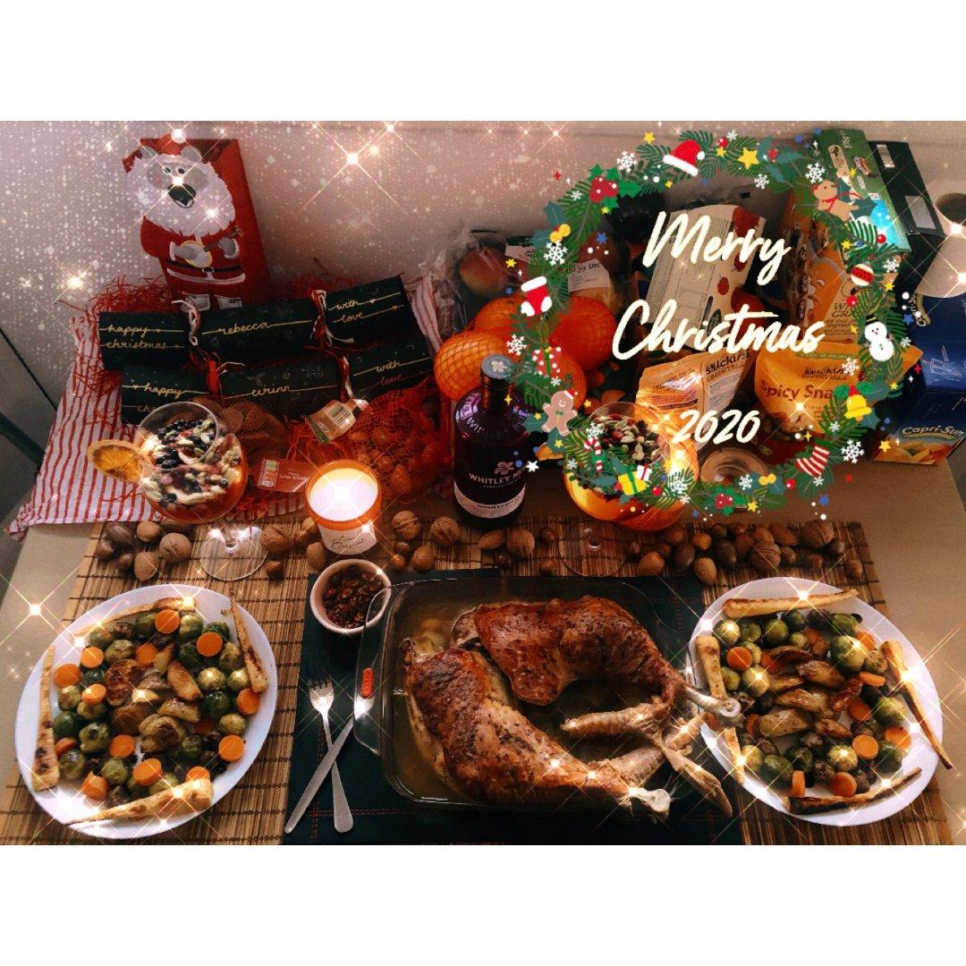 晒晒翻车的可丽饼圣诞树🎄和火鸡腿大餐🦃