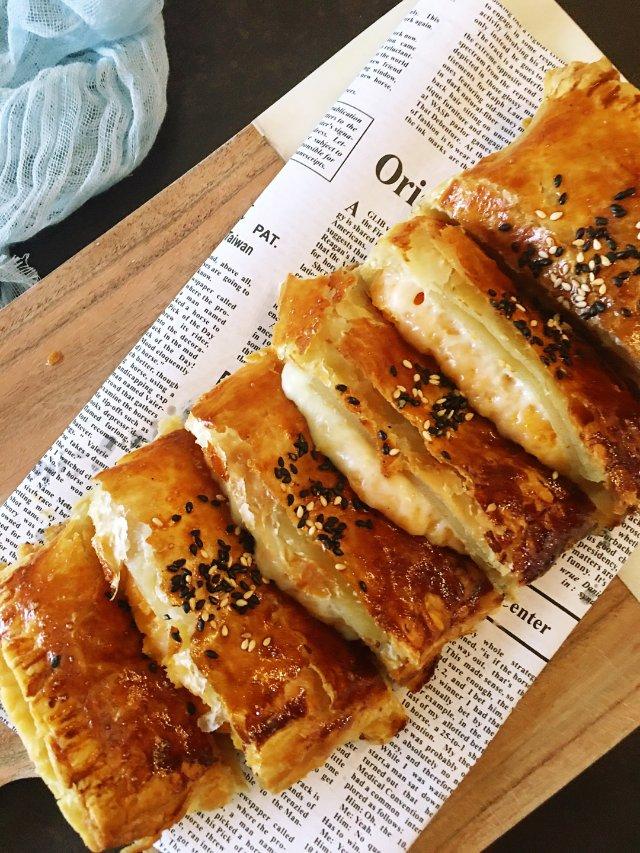 ✨神奇酥皮 |酥脆会拉丝的红薯芝士饼✨