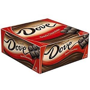 $10.68 下午茶必备德芙黑巧克力整盒装 41克 共18条