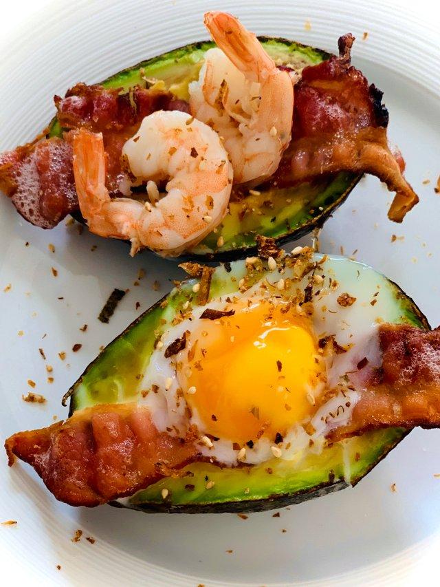 试新菜 |🥑烤牛油果培根鸡蛋