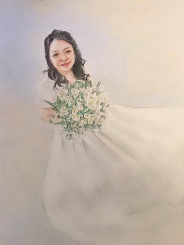 帮新娘画的画像~