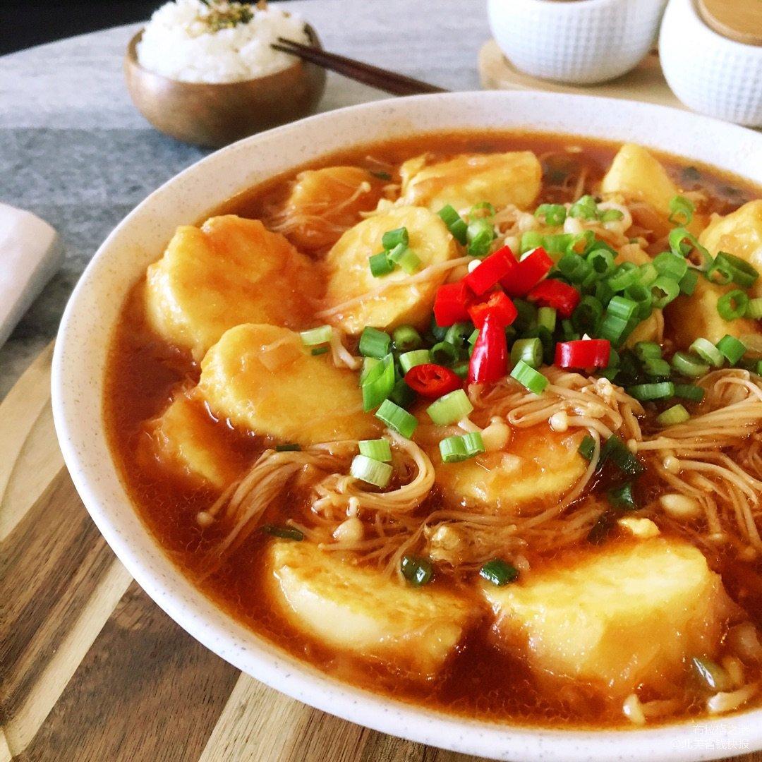 ✨超无敌下饭菜 | 金针菇烧玉子豆腐✨