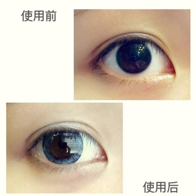 第一次戴蓝色的美瞳~~~其实也只是...