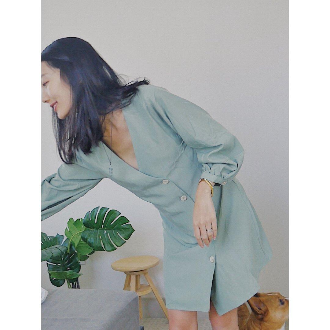 Mango🥭 牛油果绿小裙子