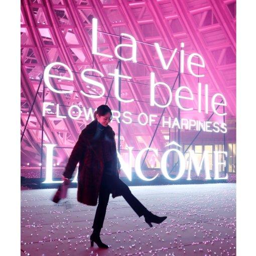 北京兰蔻新香水发布会,是拥有粉色星河的宫殿呀!✨✨