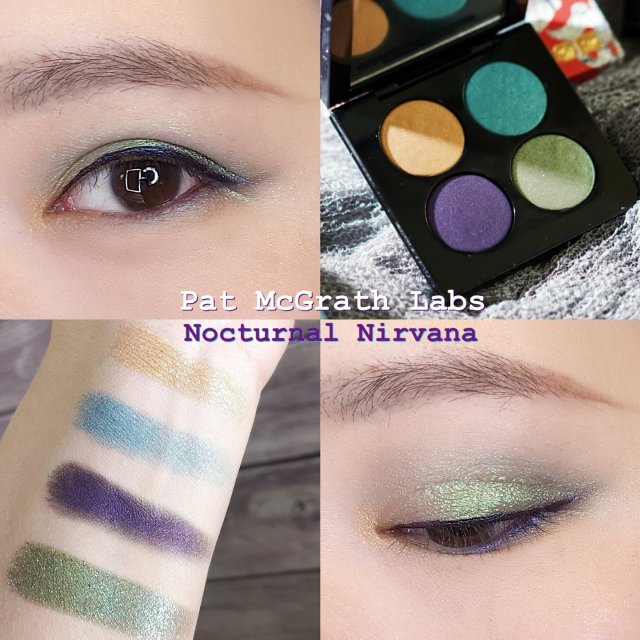 Pat 新款限量4色眼影-「藍綠紫...